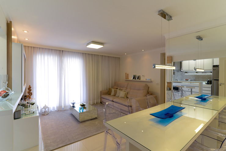 RAFAEL SARDINHA ARQUITETURA E INTERIORES Salas de estilo moderno