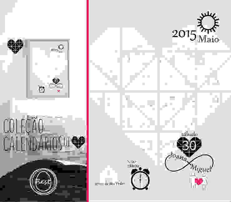 """Calendário """"Save the date"""" - """"Save the date"""" Calendar por MyNest Moderno"""