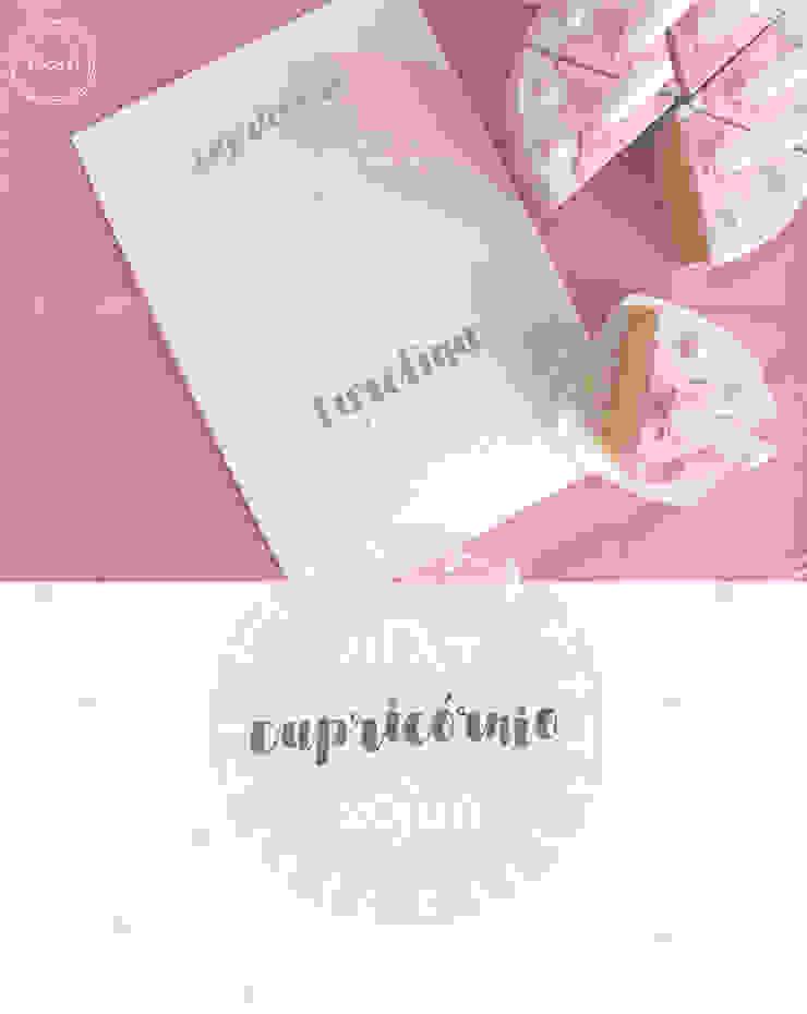Signos do zodíaco Rosa*Azul - Zodiac signs Pink*Blue por MyNest Moderno Papel