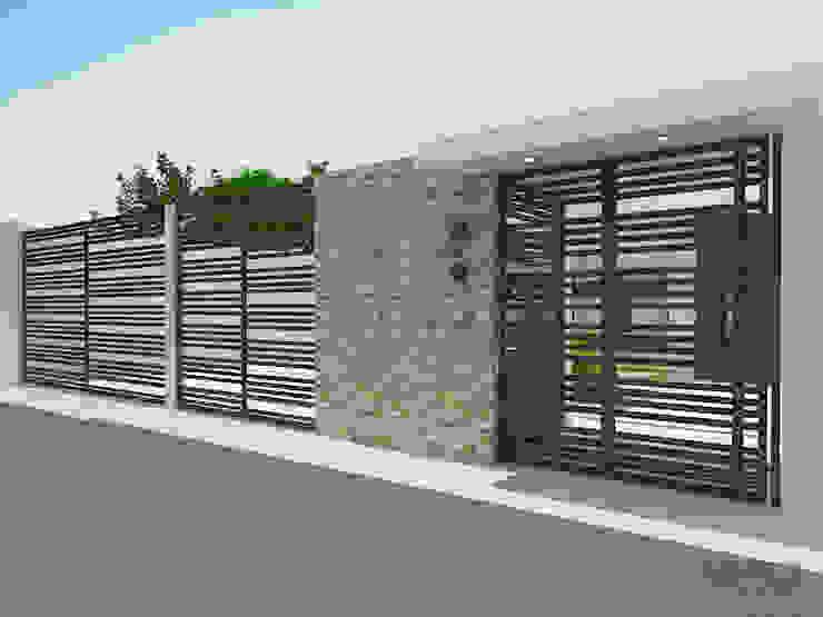 Diseño de fachada residencia unifamiliar Casas de estilo minimalista de Arte 5 Remodelaciones Minimalista