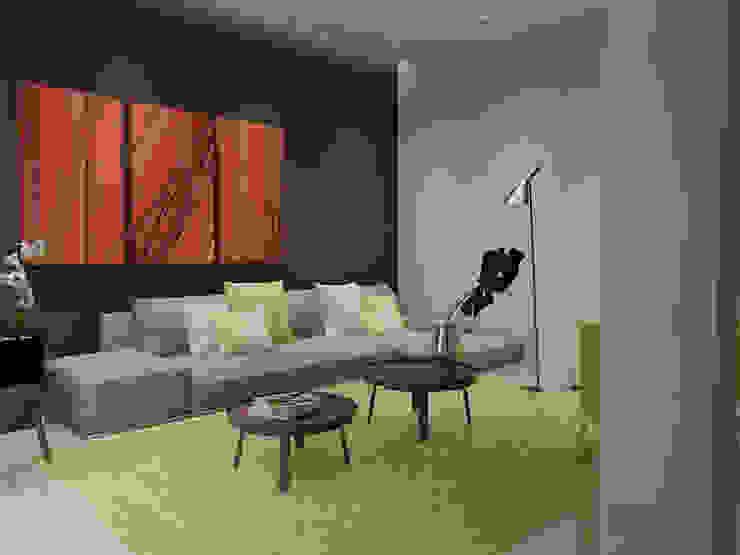 Diseño de interior residencia unifamiliar Salas de estilo minimalista de Arte 5 Remodelaciones Minimalista