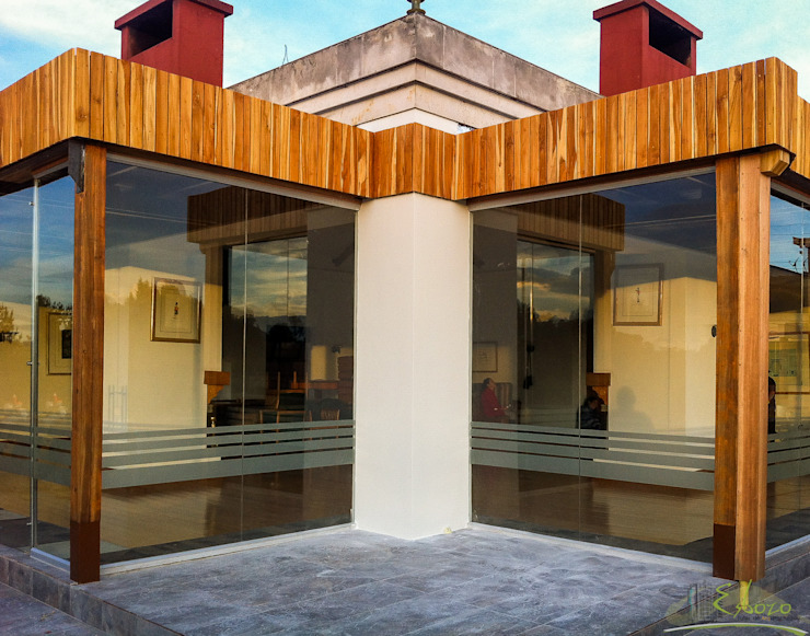 Terraza – Bar Serrezuela Country Club de Esbozo Taller de Arquitectura SAS Moderno Madera Acabado en madera