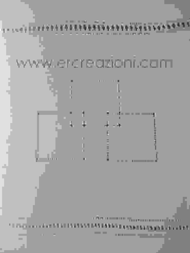 Tende ricamate a mano ad ajour di ERcreazioni - Eleonora Rossetti Creazioni Classico Lino Rosa