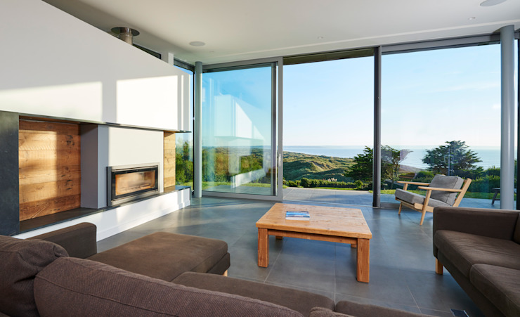 Sandhills Open Plan Living Room with Stunning Views Modern living room by Barc Architects Modern