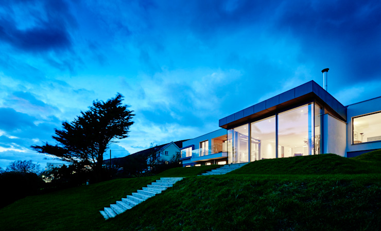 Sandhills Exterior Modern houses by Barc Architects Modern