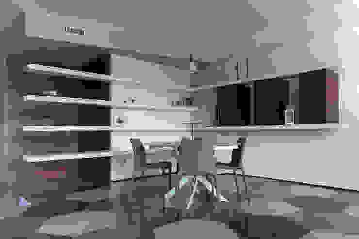 2bn architetti associati Ruang Makan Modern