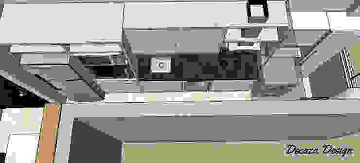 Cozinha Pequena Planejada - Projeto em 3D Cozinhas modernas por DecaZa Design Moderno MDF