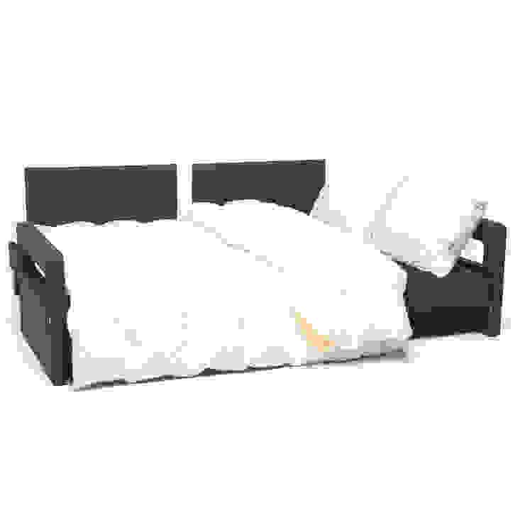 K105 Mobilya Pazarlama Danışmanlık San.İç ve Dış Tic.LTD.ŞTİ. – Comfort Yaşam Serisi Kırmızı Yastıklı Yataklı Kanepe: modern tarz , Modern Ahşap Ahşap rengi