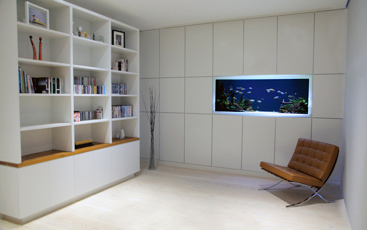 Vitro House Minimalist study/office by Aquarium Architecture Minimalist