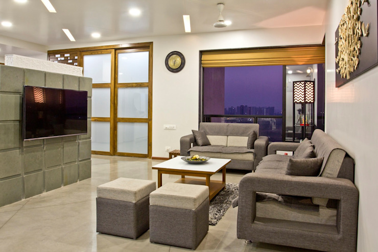 SPARSH Modern living room by PADARRPAN ARCHITECTS Modern