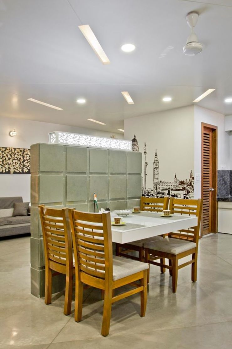 SPARSH Modern dining room by PADARRPAN ARCHITECTS Modern