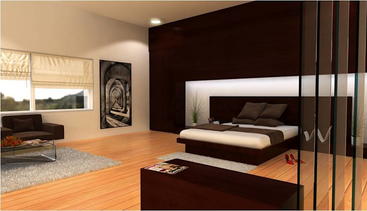PRATIKSHA Modern style bedroom by PADARRPAN ARCHITECTS Modern