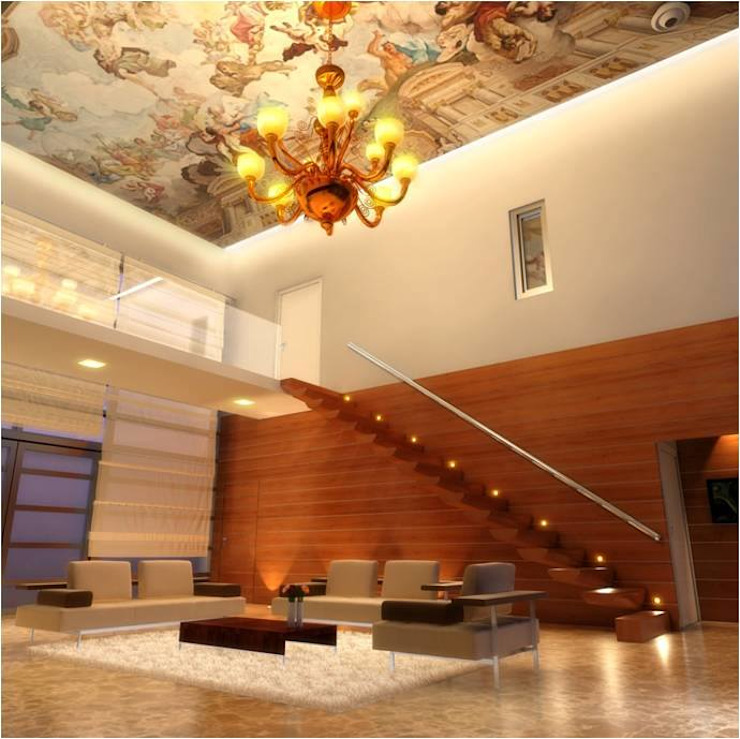PRATIKSHA Modern corridor, hallway & stairs by PADARRPAN ARCHITECTS Modern