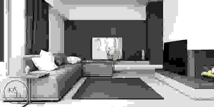 PIEKARSKIEGO Minimalistyczny salon od KAEL Architekci Minimalistyczny Beton