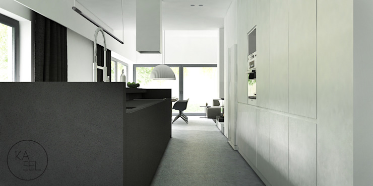 PIEKARSKIEGO Minimalistyczna kuchnia od KAEL Architekci Minimalistyczny Beton