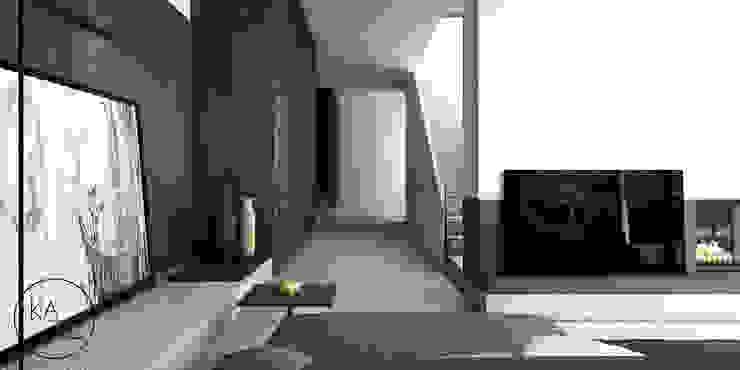 PIEKARSKIEGO Minimalistyczny korytarz, przedpokój i schody od KAEL Architekci Minimalistyczny Beton