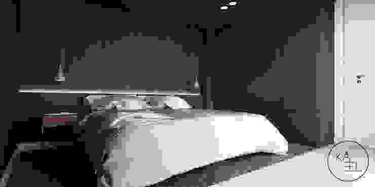 PIEKARSKIEGO Minimalistyczna sypialnia od KAEL Architekci Minimalistyczny Drewno O efekcie drewna