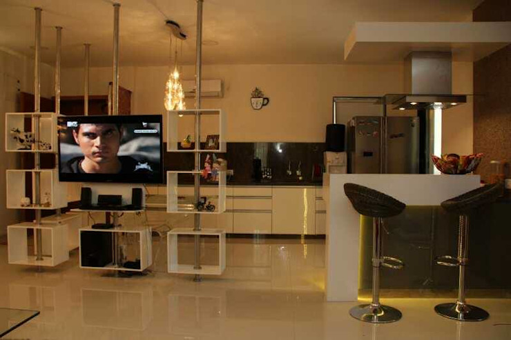 SAMVAAD Modern kitchen by PADARRPAN ARCHITECTS Modern