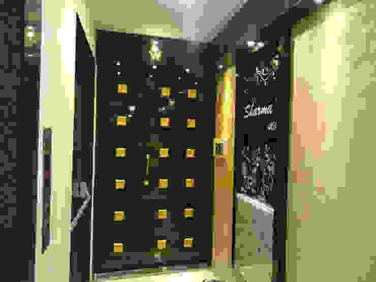 Mr.Gunjan Sharma Modern corridor, hallway & stairs by UNIQUE DESIGNERS & ARCHITECTS Modern