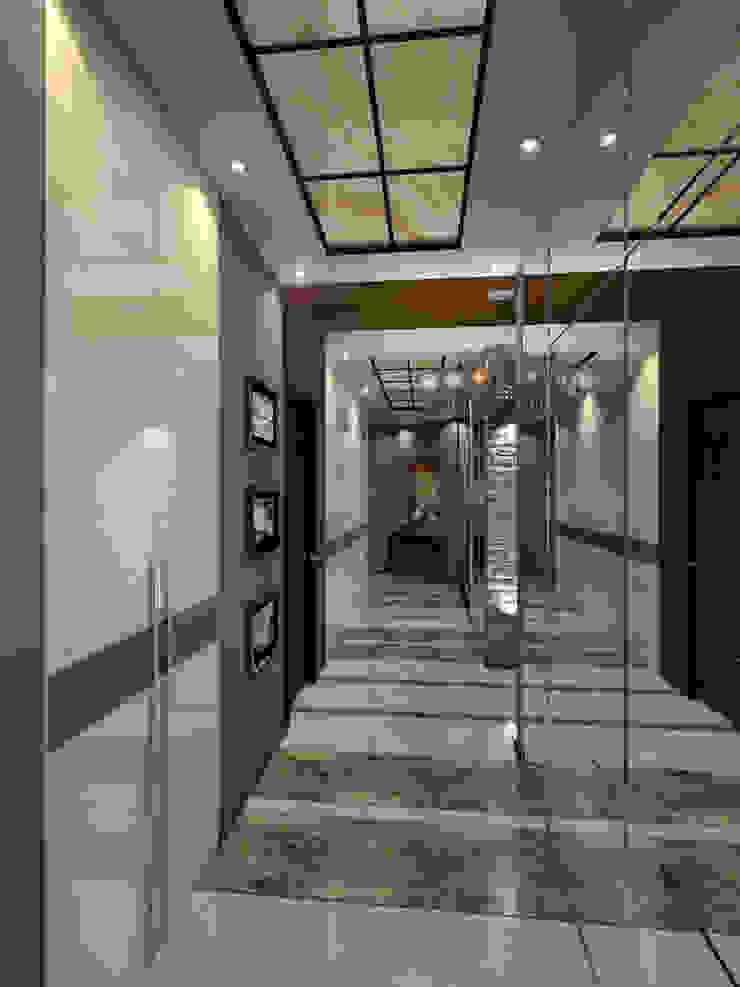 INTERIERIUM Pasillos, vestíbulos y escaleras de estilo minimalista