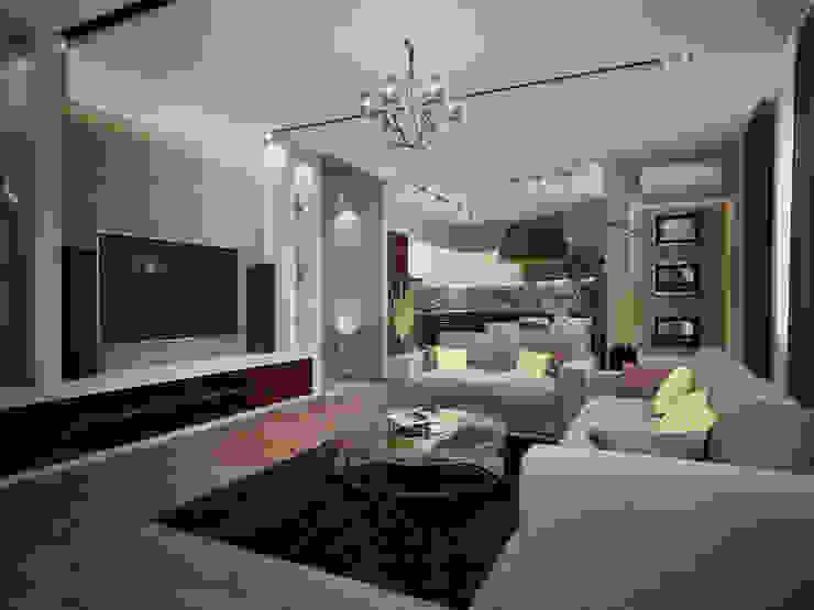 INTERIERIUM Salas de estilo minimalista