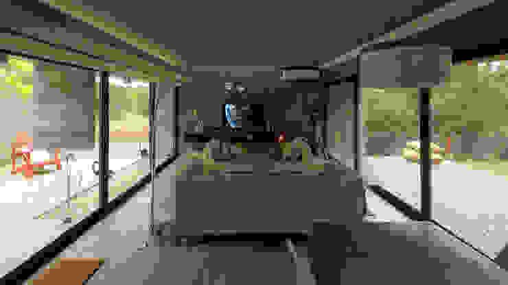 Casa S&S Salones minimalistas de homify Minimalista Concreto