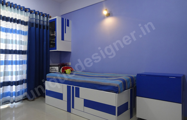 Mr. Makarand Pradhan Modern style bedroom by UNIQUE DESIGNERS & ARCHITECTS Modern