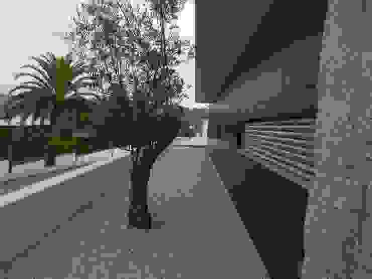 Moradia em Oliveira de Azeméis Casas modernas por Paulo Valente lda Moderno Compósito de madeira e plástico