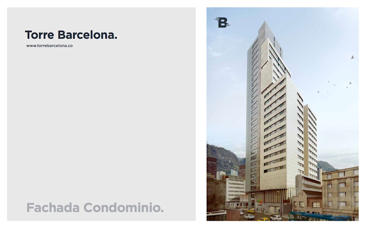 Torre Barcelona Casas modernas de HMA Desarrolladores De Proyectos Moderno