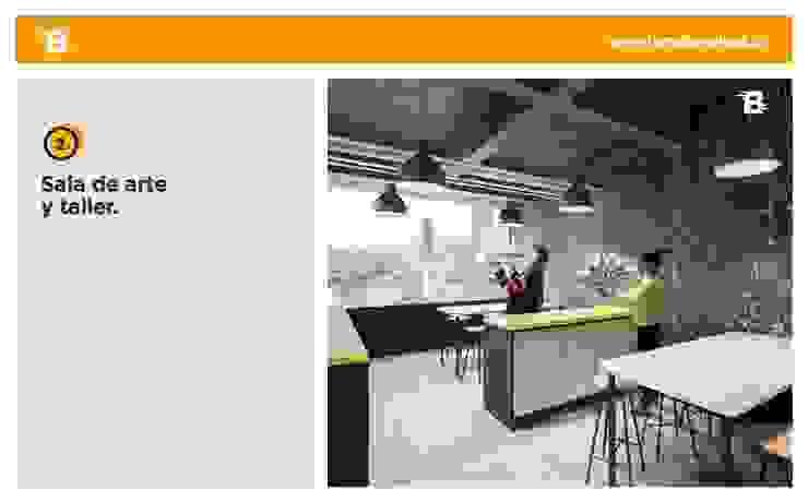 Torre Barcelona Estudios y despachos de estilo moderno de HMA Desarrolladores De Proyectos Moderno