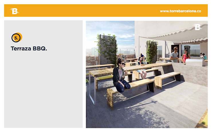 Torre Barcelona Balcones y terrazas de estilo moderno de HMA Desarrolladores De Proyectos Moderno