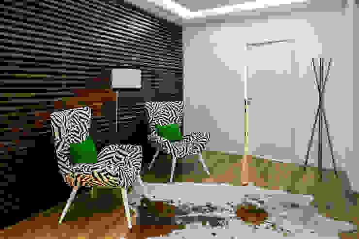 Pasillos, vestíbulos y escaleras de estilo moderno de Cássia Lignéa Moderno