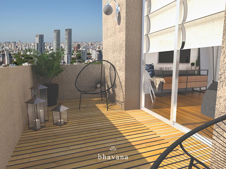 Industrial style balcony, porch & terrace by Bhavana Industrial