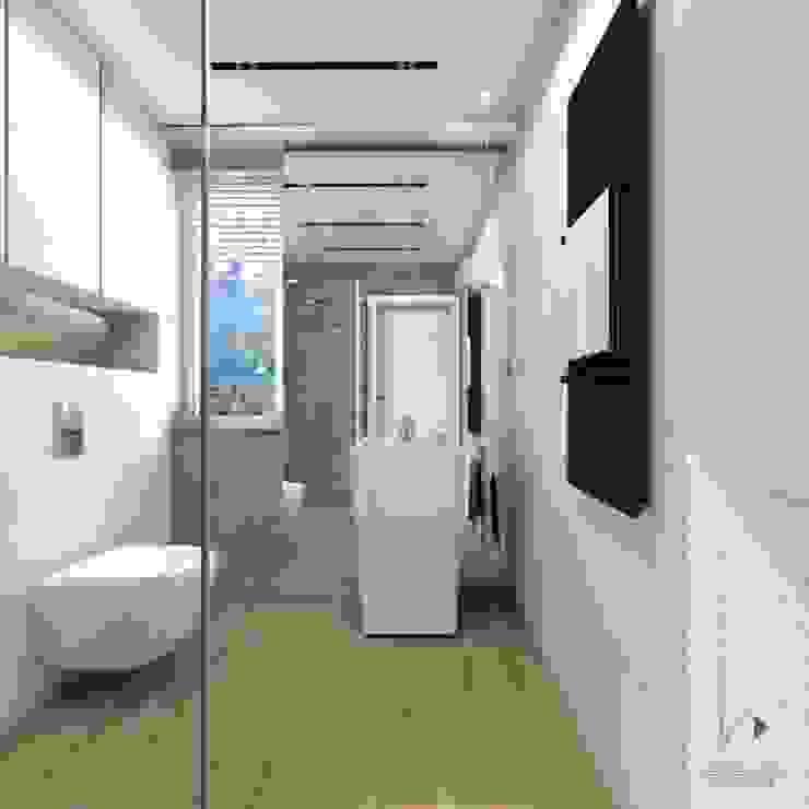 Łazienka gościnna od Architekt wnętrz Klaudia Pniak