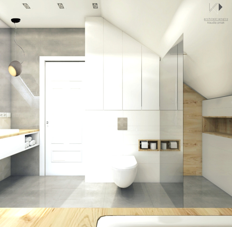 Łazienka rodzinna od Architekt wnętrz Klaudia Pniak