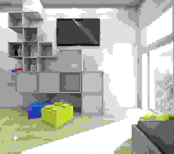 Pokój miłośnika Minecraft od Architekt wnętrz Klaudia Pniak