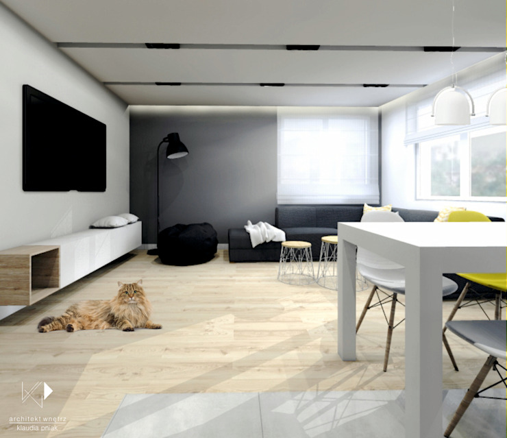 Salon od Architekt wnętrz Klaudia Pniak