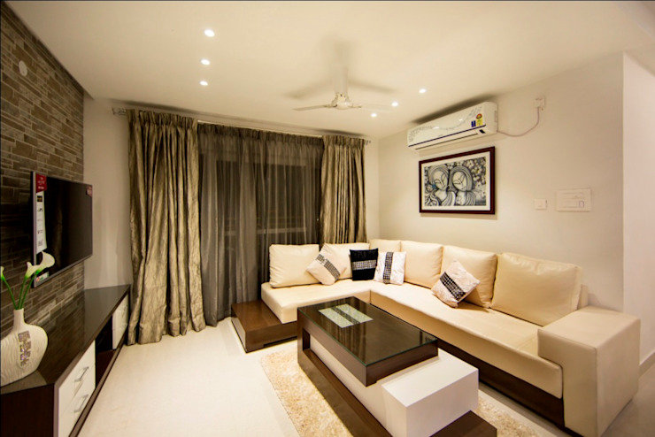 Living Room Minimalist living room by ARK Architects & Interior Designers Minimalist