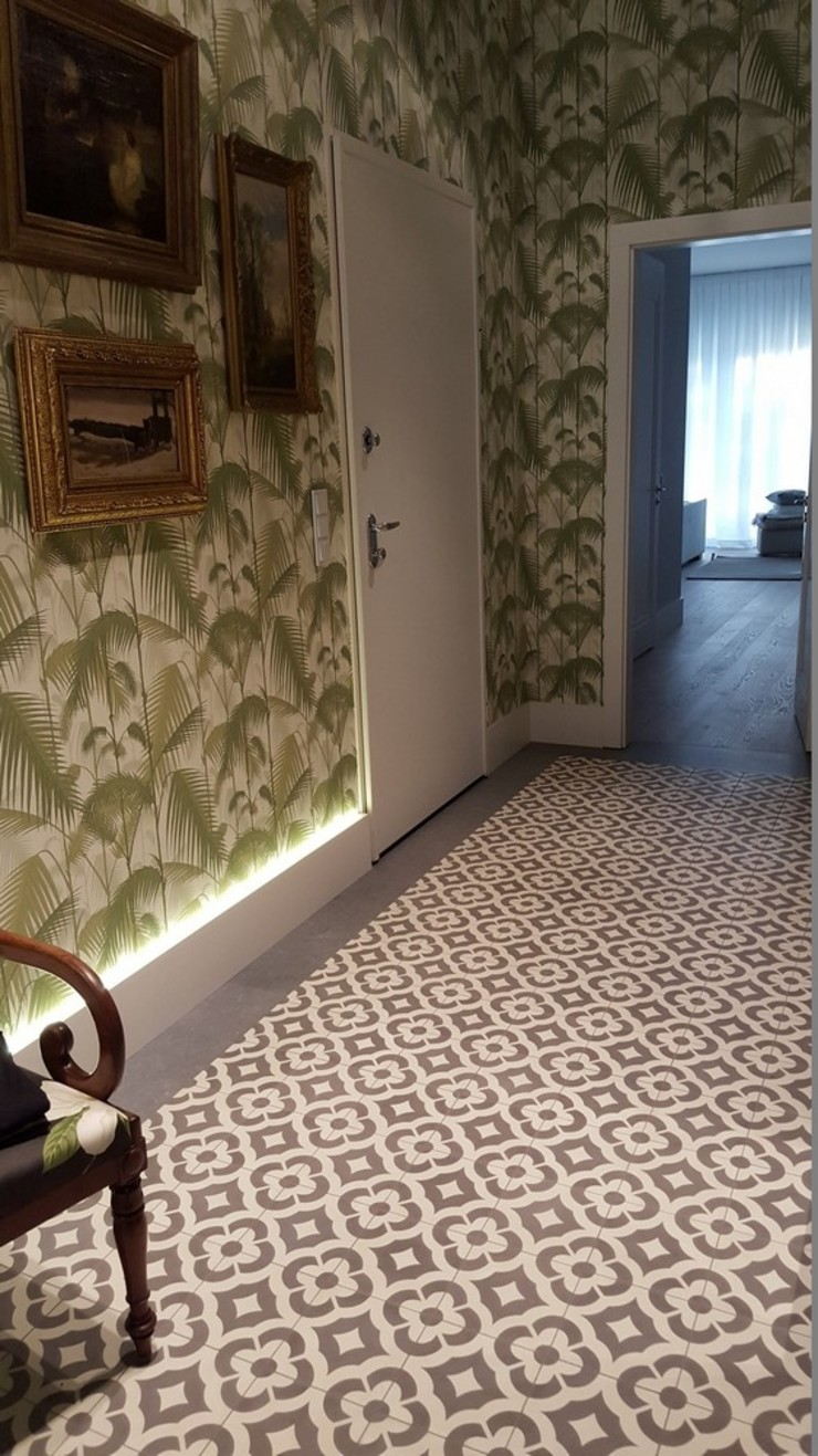 Kolory Maroka Koridor & Tangga Klasik Ubin Green