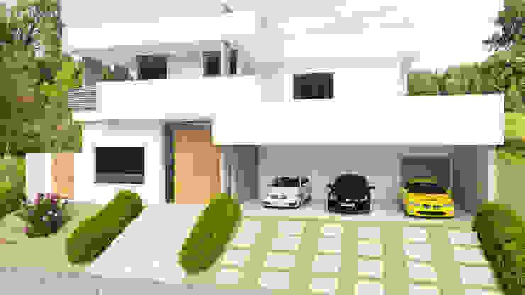 Vista frontal Casas modernas por Sieg Arquitetura e Construção Moderno