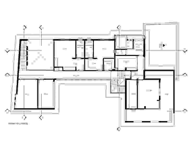 Planta Pavimento Superior por Sieg Arquitetura e Construção Moderno