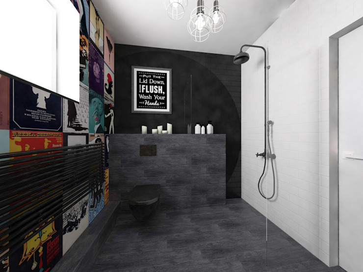 Eclectic style bathroom by OHlala Wnętrza Eclectic