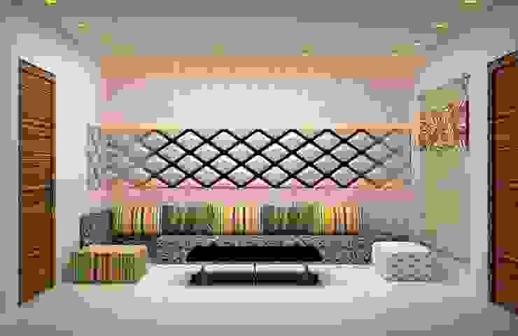 Salas / recibidores de estilo  por Royal Rising Interiors,