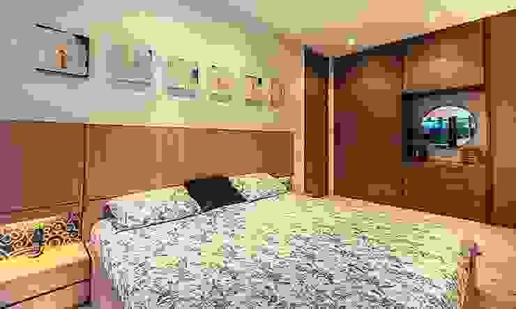 Cama habitación principal de Cristina Cortés Diseño y Decoración Moderno Madera Acabado en madera