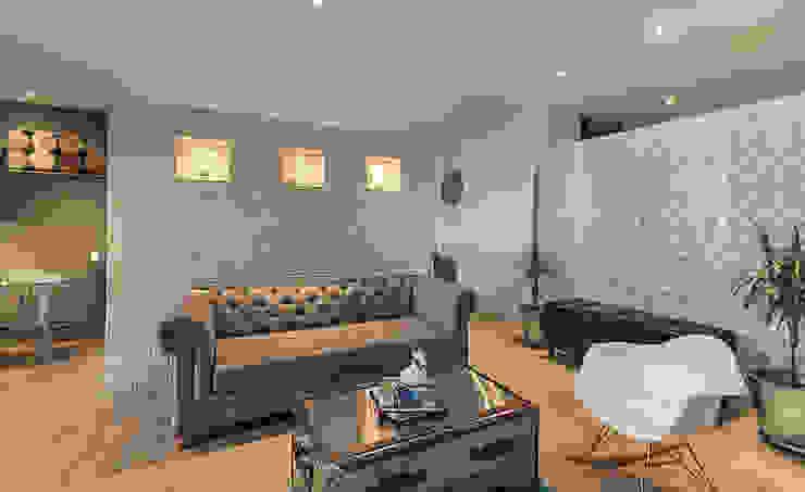 Sala auxiliar: Salones de estilo  por Cristina Cortés Diseño y Decoración