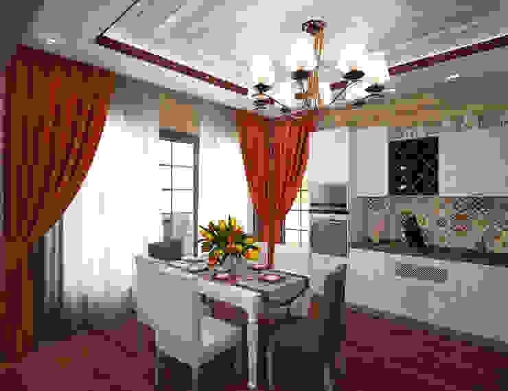 Студия дизайна Виктории Силаевой Landhaus Küchen Holz Beige