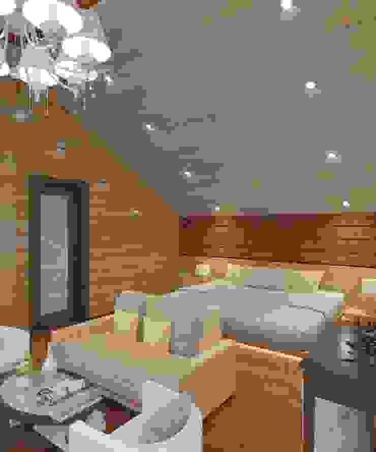 Студия дизайна Виктории Силаевой Schlafzimmer im Landhausstil Holz Beige