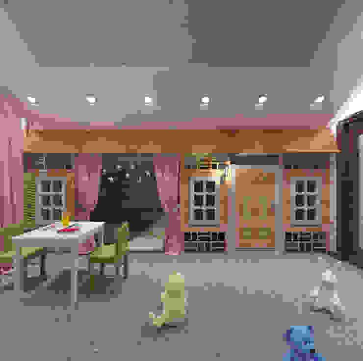 Студия дизайна Виктории Силаевой Kinderzimmer im Landhausstil Holz Pink