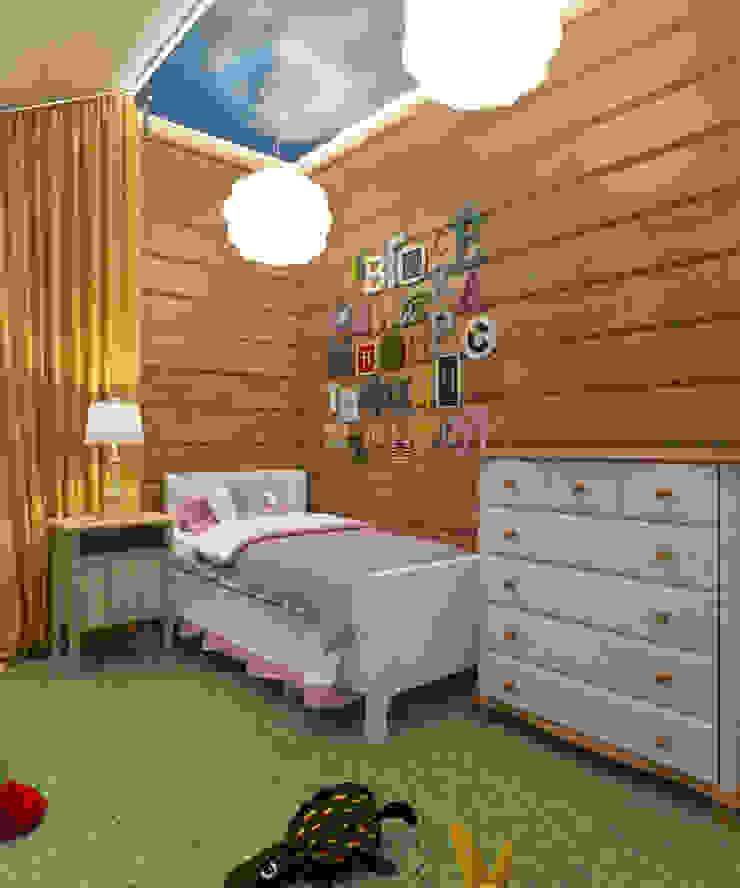 Студия дизайна Виктории Силаевой Kinderzimmer im Landhausstil Holz Beige