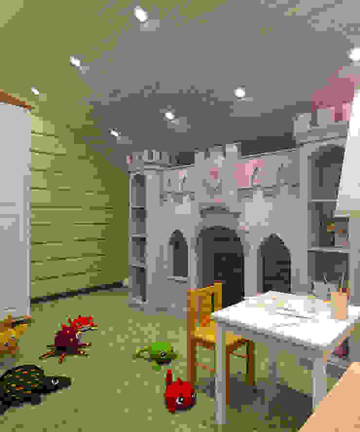 Студия дизайна Виктории Силаевой Kinderzimmer im Landhausstil Holz Grün